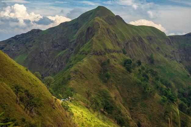 Krajobraz pasma górskiego.