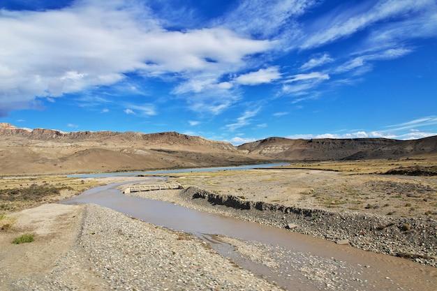Krajobraz patagonii, argenina