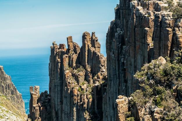 Krajobraz półwyspu tasman, tasmania, australia