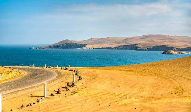 Krajobraz rezerwatu narodowego paracas w peru