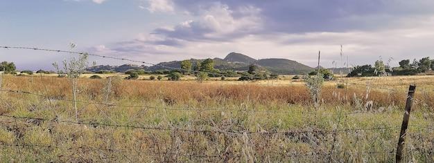Krajobraz sardynii, obraz banera z miejscem na kopię