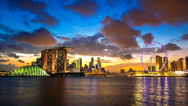 Krajobraz singapuru.