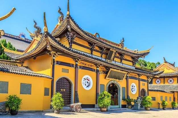 Krajobraz starożytnej architektury chińskiej świątyni