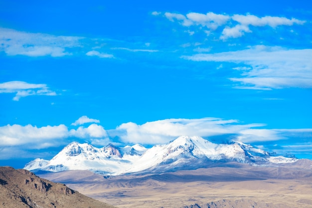 Krajobraz w andach. peru.