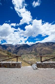 Krajobraz w górach. peru.