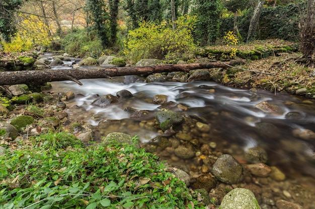 Krajobraz w pobliżu aldeanueva de la vera, caceres. extremadura. hiszpania.