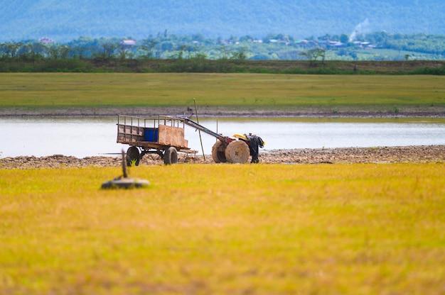 Krajobrazowy widoku życie wieś tajlandia.