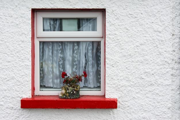 Krajobrazy irlandii, kolorowe okna cong w hrabstwie galway