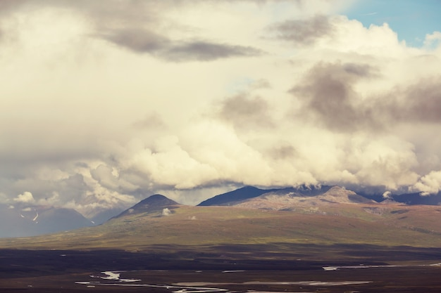 Krajobrazy na autostradzie denali na alasce.