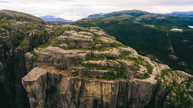 Krajobrazy w górach. norwegia