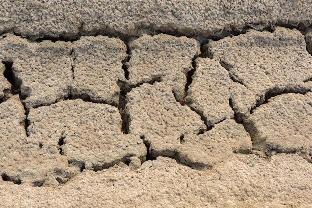 Krakingowy gliniany naturalny tło lub tekstura
