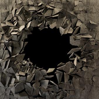 Krakingowy ziemski abstrakcjonistyczny tło
