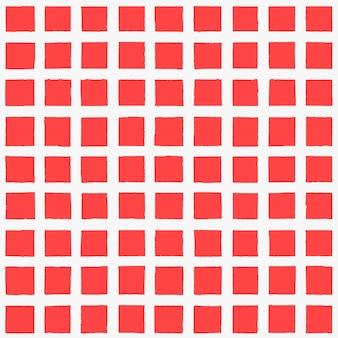 Kratkę biało -czerwone tło grunge stary tło z atramentem ręcznie rysowane kratę niekończący się wzór. modny pasek bezszwowe tekstury. do tkanin, tekstyliów, projektowania mody, opakowań, tapet.