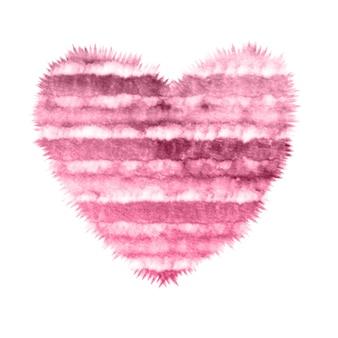 Krawat do farbowania w różowym gradiencie akwareli serca
