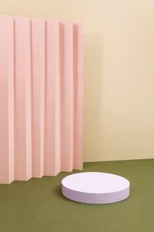 Kreatywna kompozycja minimalistycznego podium