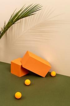 Kreatywna kompozycja minimalistycznej sceny