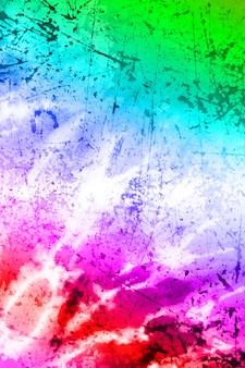 Kreatywna podwójna ekspozycja tekstury grung z tekstylia barwnika
