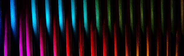 Kreatywna wielokolorowa spirala, abstrakcyjne tło, zdjęcie panoramiczne
