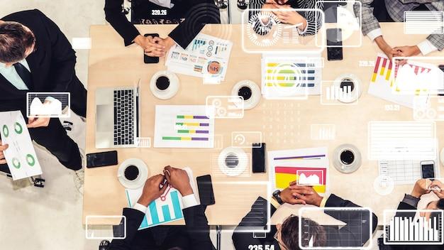 Kreatywna wizualizacja ludzi biznesu na spotkaniu pracowników firmy