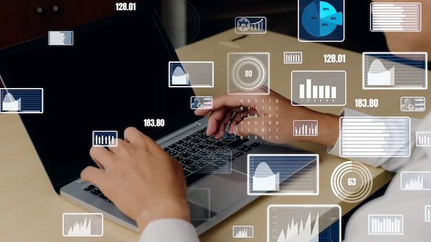 Kreatywna wizualizacja technologii analizy danych biznesowych