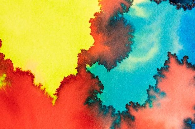 Kreatywne abstrakcyjne malarstwo akwarela