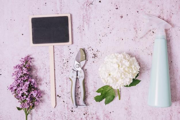 Kreatywne mieszkanie leżał koncepcja ogrodnictwo
