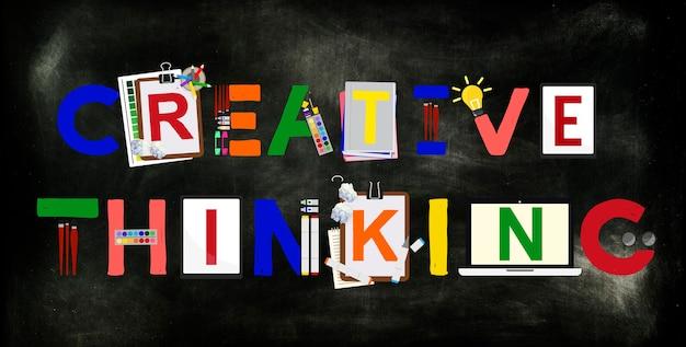 Kreatywne myślenie pomysły innowacje koncepcja kreatywności