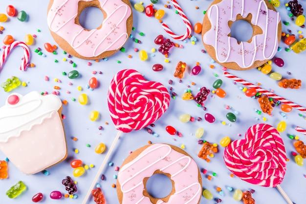 Kreatywne słodycze układ, koncepcja deser