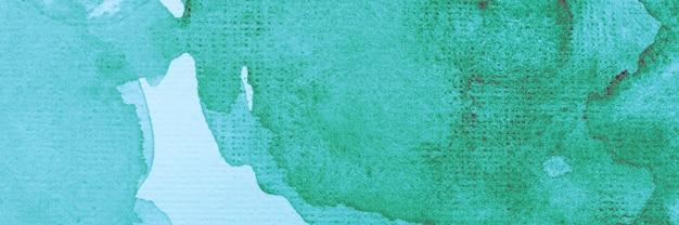 Kreatywne streszczenie akwarela zielona farba