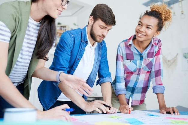 Kreatywny projekt planowania młodych ludzi