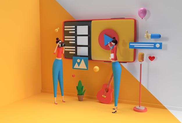 Kreatywny projekt renderowania 3d dla banerów internetowych, materiałów marketingowych, prezentacji biznesowych, reklam online.