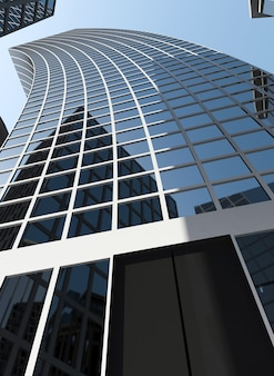 Kreatywny wizerunek nowoczesnego centrum biznesowego