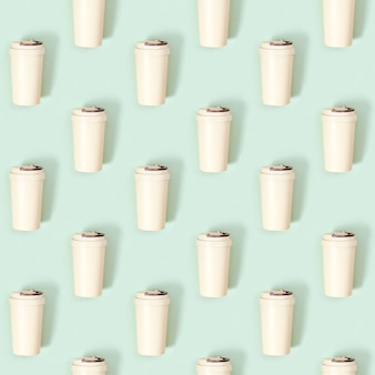Kreatywny wzór z ekologicznym kubkiem do kawy wielokrotnego użytku zero waste zabierz duży kubek na napoje