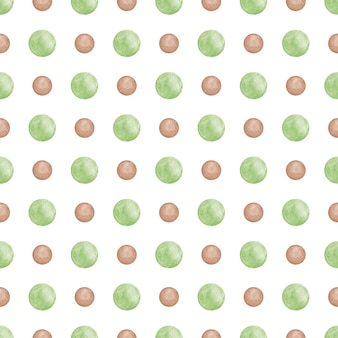 Kręgi akwarela powtarza tło zielone kropki wzór streszczenie notatnik papier