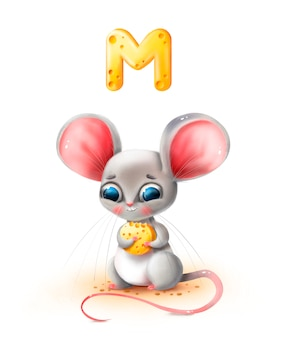 Kreskówka mysz posiada ser