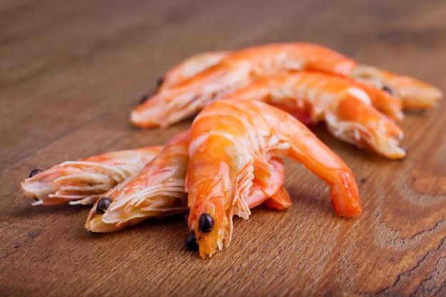 Krewetki krewetki owoce morza składnik żywności