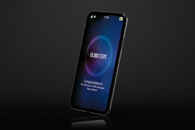 Kroki cel czarny smartfon
