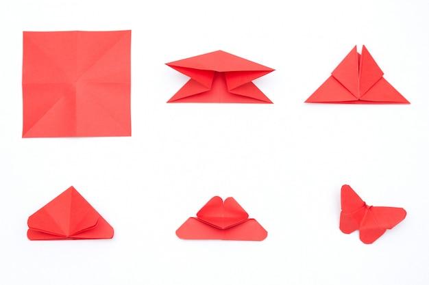 Kroki tworzenia motyla origami