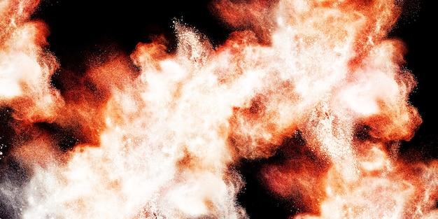 Kropelki kurzu i dymu w tle unoszące się w powietrzu ilustracja 3d