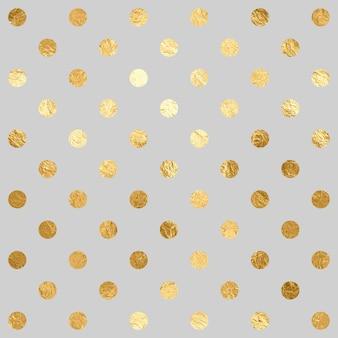 Kropki szare tło tekstury z złote kropki