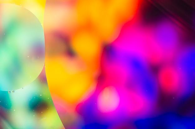 Krople oleju w wodzie abstrakcyjny obraz psychodeliczny wzór