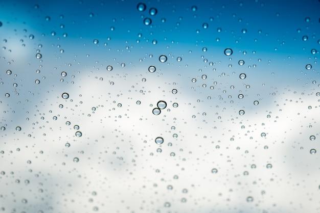 Krople wody na szkle
