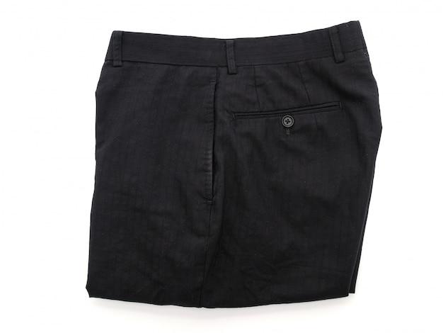 Krótkie spodnie na białym tle