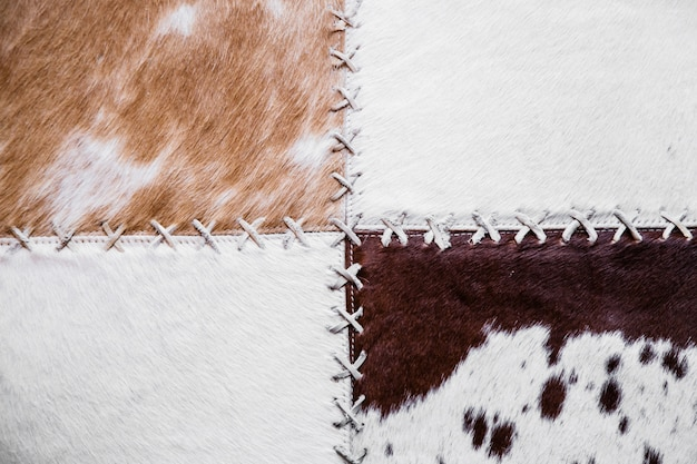 Krowa dywanik tekstura tło wzór