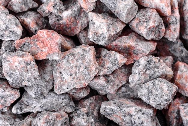 Kruszony kamień streszczenie teksturowanej tło. tło materiałów budowlanych