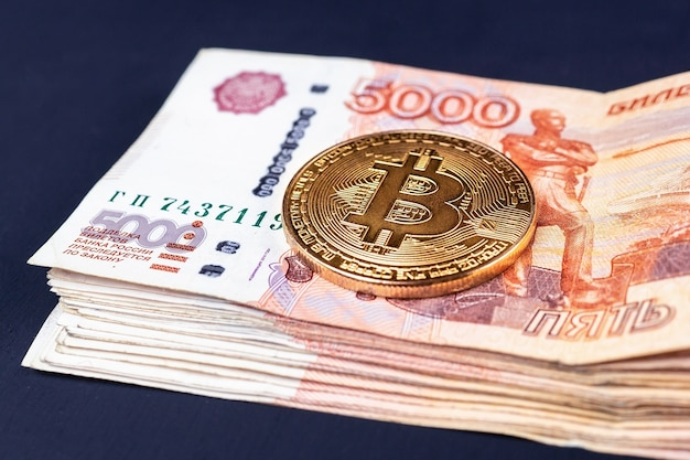 Kryptowaluta bitcoin z rublami rosyjskimi