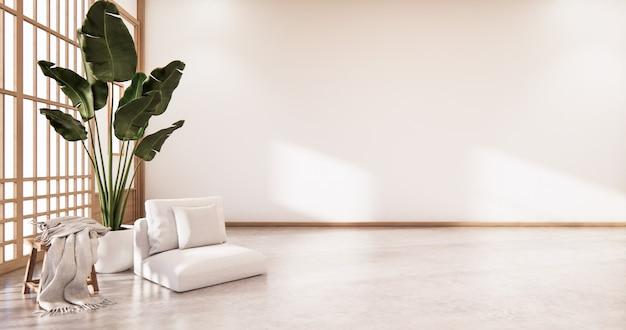 Kryty pusty pokój w stylu japońskim