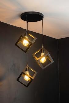 Kryty rocznik światła retro sufitowa lampa