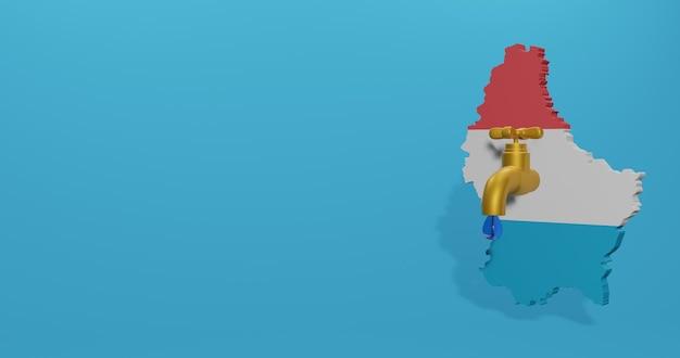 Kryzys wodny i pora sucha w luksemburgu dla infografik w renderowaniu 3d