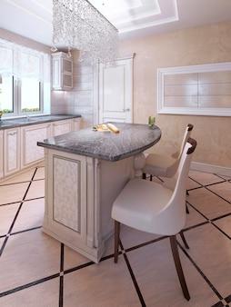 Krzesła barowe w stylu art deco kitchen island